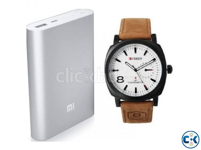 Combo Offer - Mi 10400 mAh Power Bank Curren Watch. | ClickBD large image 0