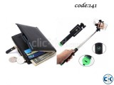 Combo Offer Bluetooth Selfie Stick Bogesi Leather Black Men