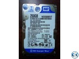 WD 250 gb laptop Hard disk Used