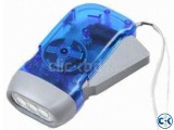 Hand Pressing Dynamo Charging LED Torch