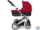Mamas Papas Pixo Carrycot Package - Red bought from UK
