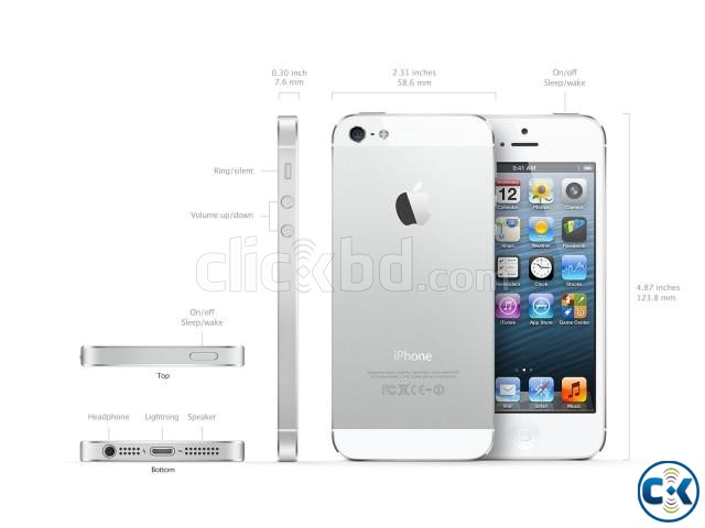 Apple Iphone 5s 32GB White Silver Color | ClickBD