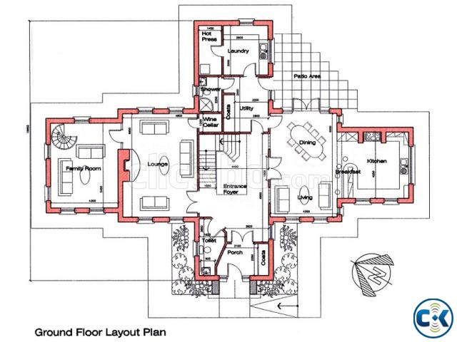 Ground floor layout plan clickbd for Floor plans for 160 000