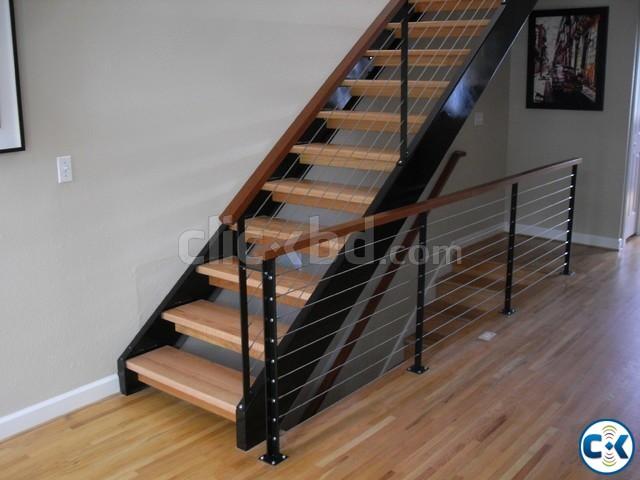 WOODEN STAIR DESIGN CONSTRUCTION 1 | ClickBD