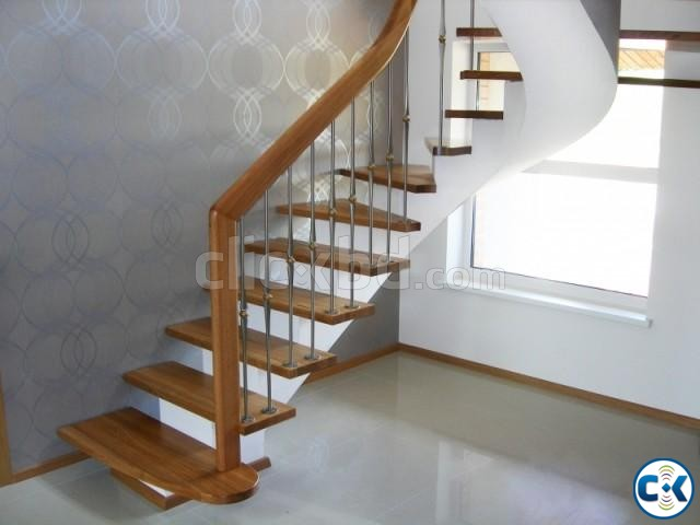 WOODEN STAIR DESIGN CONSTRUCTION 5 | ClickBD large image 0