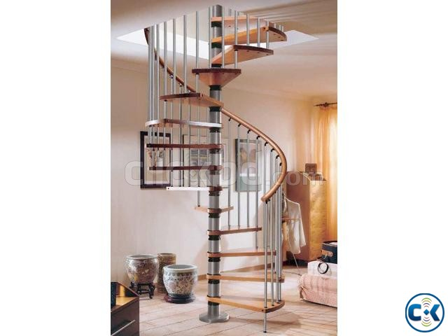 WOODEN STAIR DESIGN CONSTRUCTION 5 | ClickBD large image 3