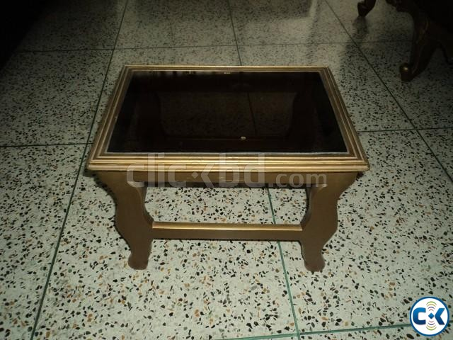 Small Bed Side Glass Table | ClickBD large image 1