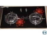 Brand New Glass 2 burner Auto Cabinet Stove From Italy