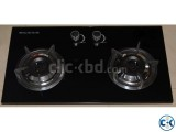 Brand New Glass 2 burner Auto Cabinet Stove-2 From Italy