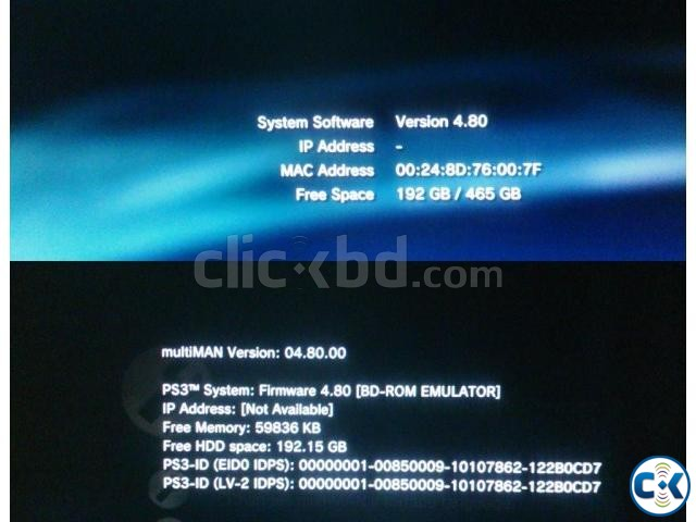 PS3 500 GB modded with the latest 4.80 CFW REBUG | ClickBD large image 0