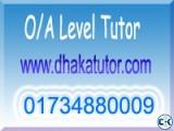 A level home tutor Baridhara 01734880009