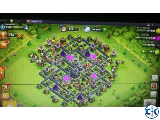 Clash of clan id-twn hall 9 max | ClickBD large image 0