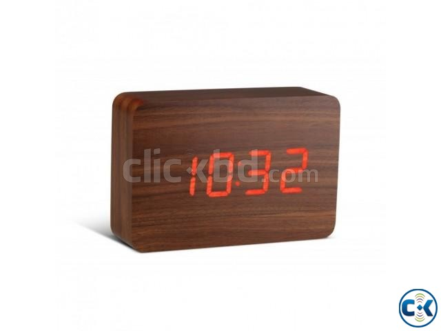 WOODEN TABLE DIGITAL CLOCK | ClickBD large image 0