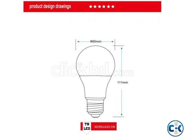 A60 LED Light Bulb_Free Delivery_Whole Sell_01756812104 | ClickBD large image 1