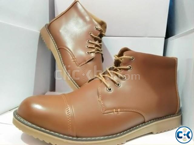men s high neck boots | ClickBD large image 0