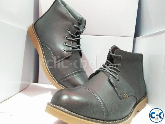 men s high neck boots | ClickBD large image 1