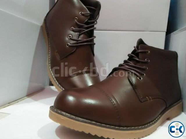 men s high neck boots | ClickBD large image 3