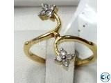 Diamond With Gold Ladies Ring