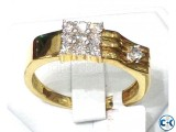 Diamond With Gold Gens Ring