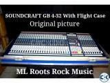 Soundcraft GB - 4 - 32 With Flight case