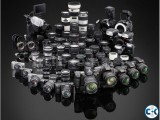 Professional Camera Lens and equipments Rental service