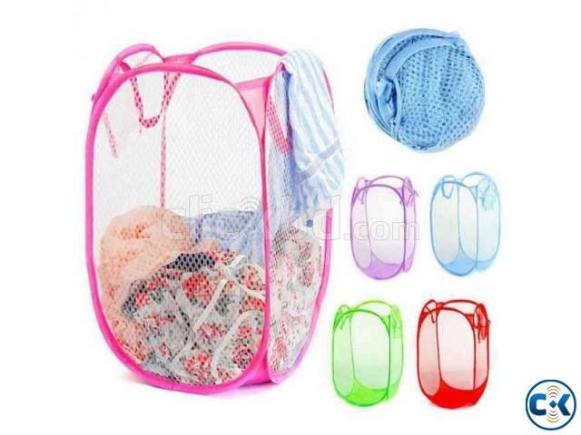 Foldable Pop Up Dirty Clothes Storage Bag 1pc | ClickBD large image 0