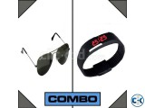 LED Watch and RayBan Sunglasses Combo