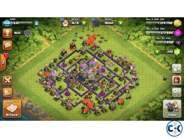 9 town hall coc id | ClickBD large image 0