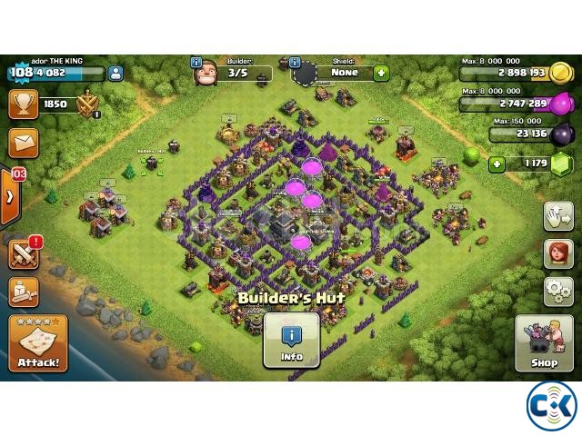 Clash of Clans ID TH 9  | ClickBD large image 0