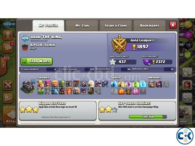 Clash of Clans ID TH 9  | ClickBD large image 1