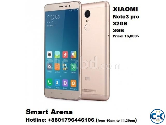 XIAOMI Note 3 pro 32gb 3gb Ram With Warranty   ClickBD large image 0