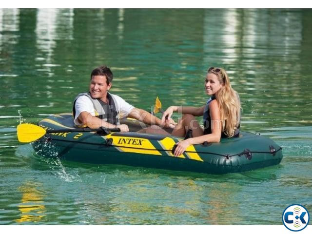 Intex Travel Sports boat inflatable with All | ClickBD large image 0