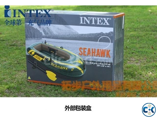 Intex Travel Sports boat inflatable with All | ClickBD large image 3