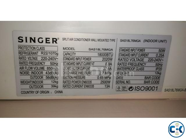 SINGER AC LIKE NEW 1 YEAR WARRANTY | ClickBD large image 1