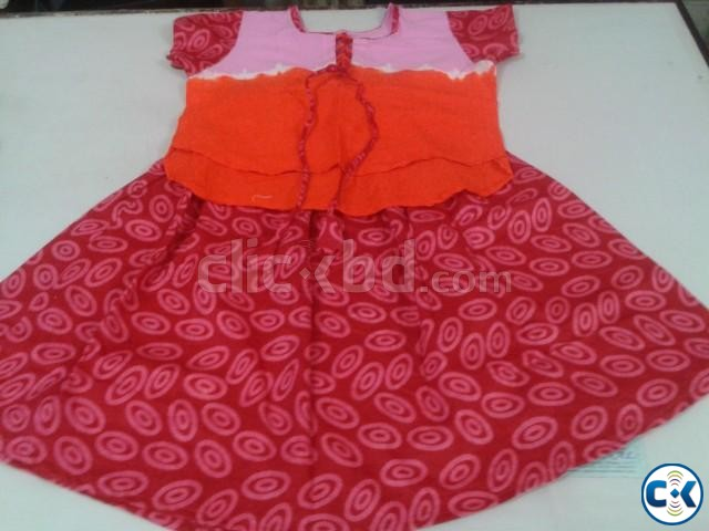 Baby cotton frock | ClickBD large image 0