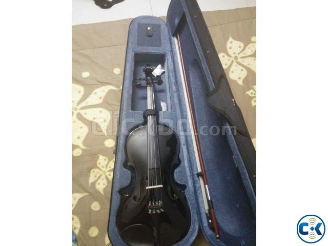 WOODS jet black violin for sale | ClickBD large image 0