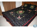 appliqu bed sheet