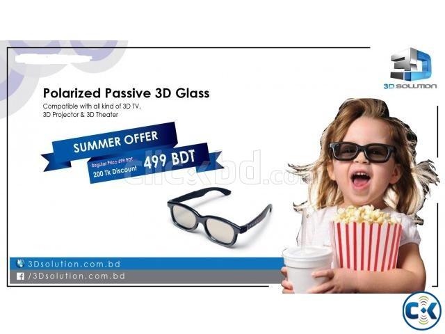Passive Polarized 3D Glass 3D SOLUTION | ClickBD large image 0