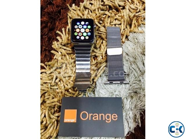apple watch 42 mm with stainless steel link bracelet Boxed | ClickBD large image 0