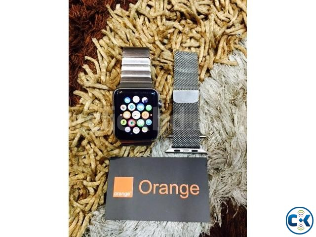 apple watch 42 mm with stainless steel link bracelet Boxed | ClickBD large image 3