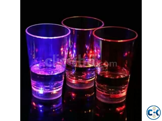 Liquid Sensor Flashing Party Mug Glass-  | ClickBD large image 0