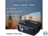 3D Android Wifi TV projector 1200 Lumen