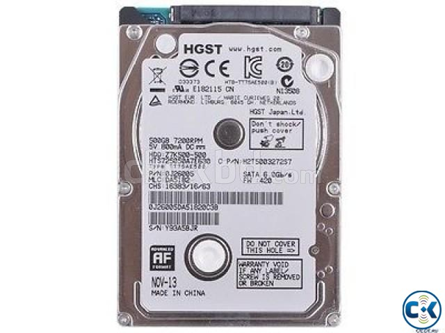 HGST Travelstar 500GB 7 200 RPM SATA Notebook Hard Drive | ClickBD large image 0