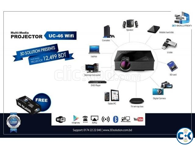 WIFI LED Portable Entertainment Projector UNIC UC-46