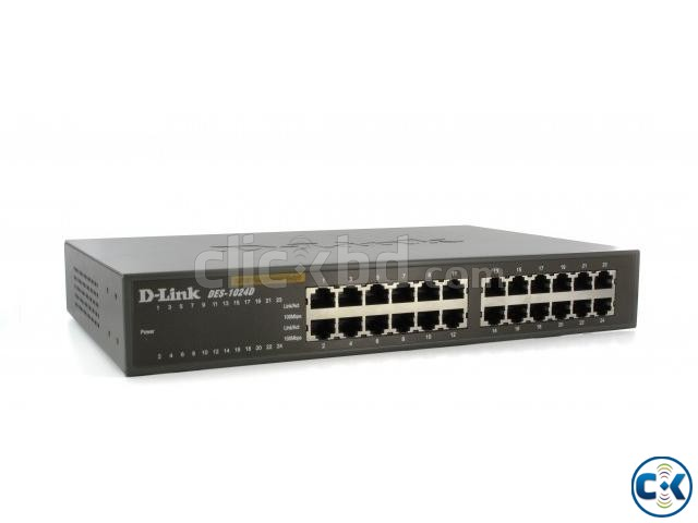 D-Link 24 port 10 100 D-link gigabit Switch DES-1024D  | ClickBD large image 1