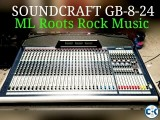 Soundcraft GB -8-24 with flight case
