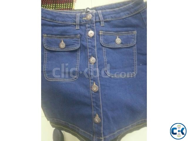 Bangladesh Jeans Stocklot Lady s Sexy Denim Pant Skirt | ClickBD large image 1
