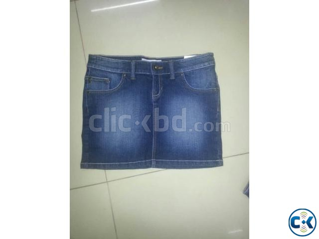 Bangladesh Jeans Stocklot Lady s Sexy Denim Pant Skirt | ClickBD large image 2