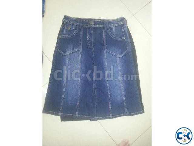 Bangladesh Jeans Stocklot Lady s Sexy Denim Pant Skirt | ClickBD large image 3