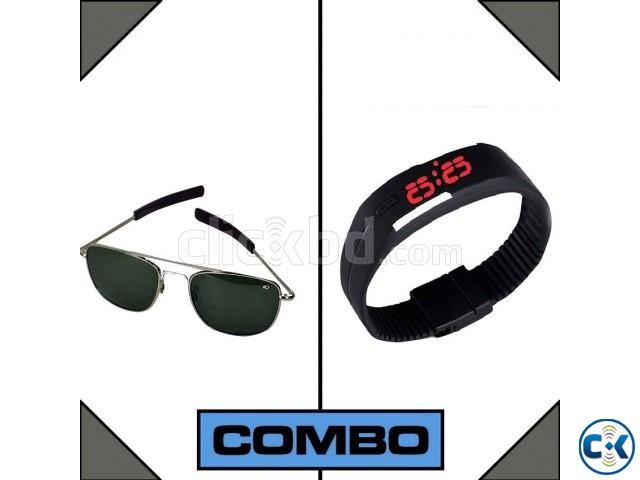 AO Sunglasses with Free Led watch | ClickBD large image 0